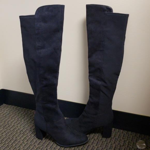 c8e655bbae9 NIB Marc Fisher Loran Navy Blue boots Sz 8.5